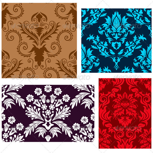 GraphicRiver Damask Pattern Set 3361998
