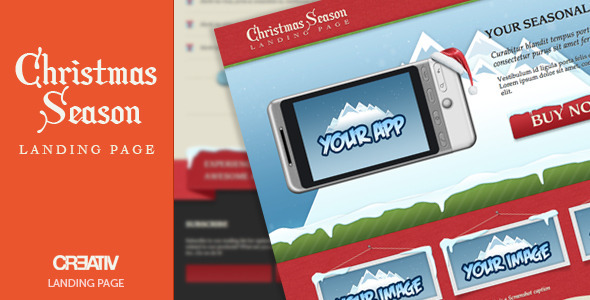 Christmas Season Landing Page Template - Landing Pages Marketing