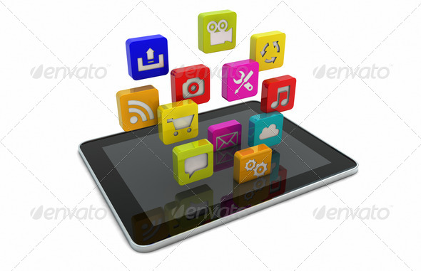 tablet apps - Stock Photo - Images