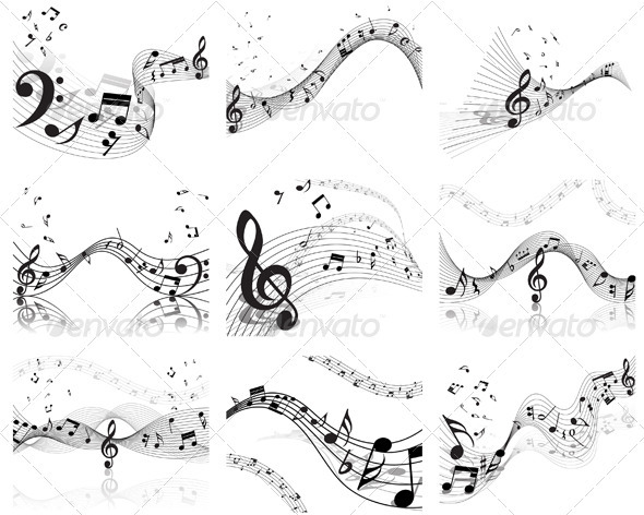 GraphicRiver Musical Staff Set 3363021
