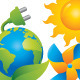 Shiny Green Energy Eco Icons - GraphicRiver Item for Sale