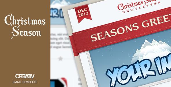 Plantilla de Mailing de Navidad Creativa