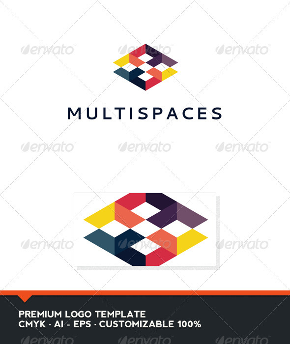 GraphicRiver Multispaces Logo Template 3363366