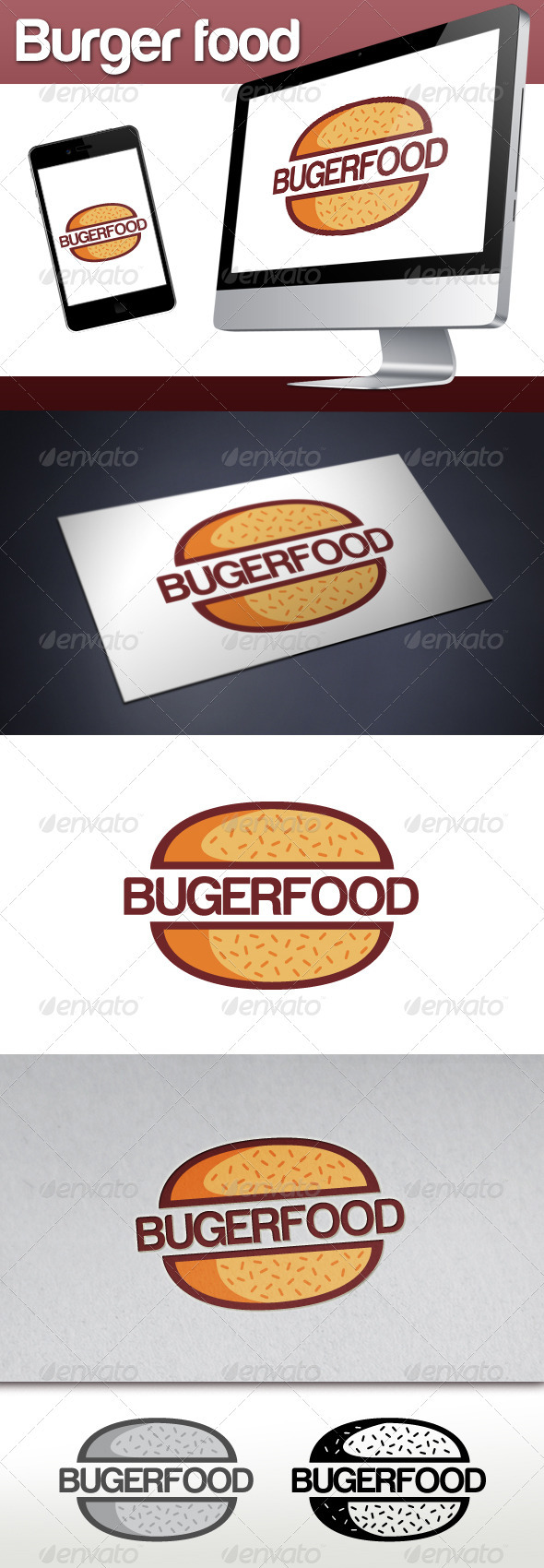 GraphicRiver Burger Restaurant Logo 3363413