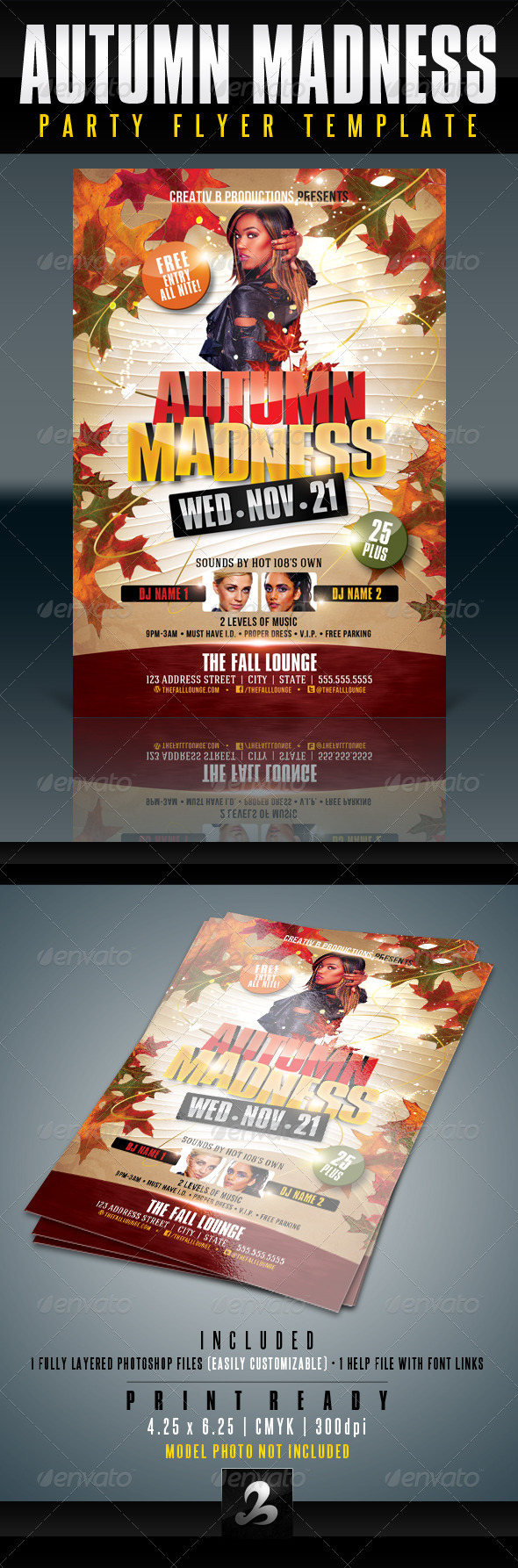 Autumn Party Flyer Template - Clubs & Parties Events