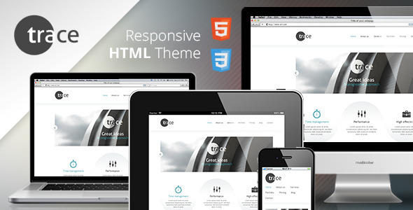trace - Responsive HTML Template - Corporate Site Templates