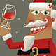 Santa's Christmas Cheer with a Bottle of Wine - GraphicRiver Item for Sale