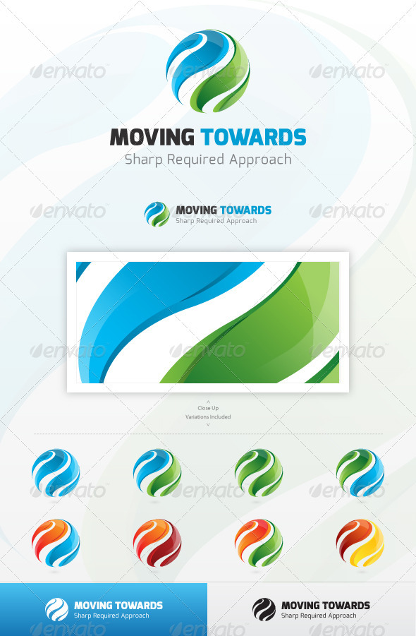 Moving Toward Logo - Abstract Logo Templates
