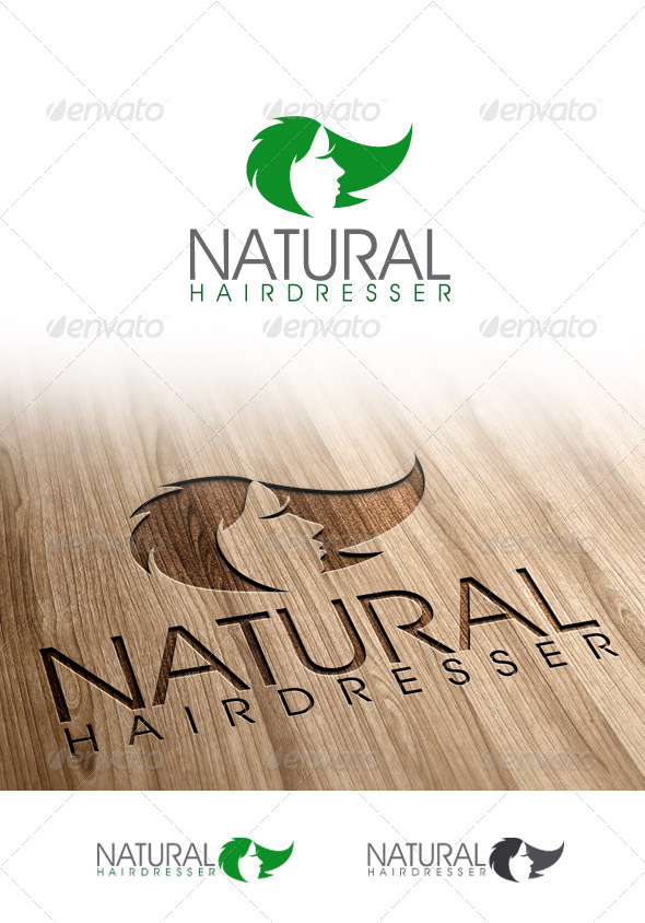 GraphicRiver Hairdresser Natural Logo 3366029
