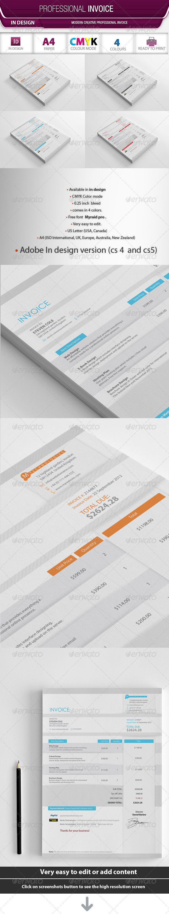 GraphicRiver Professional Invoice 3317331