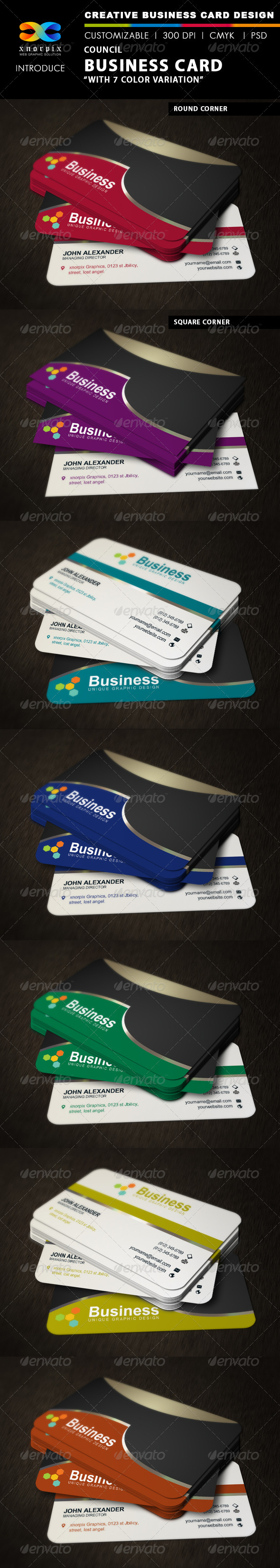 GraphicRiver Council Business Card 3366426
