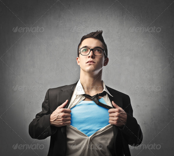 Young Superhero - Stock Photo - Images