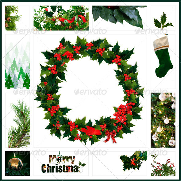 Christmas collage - Stock Photo - Images