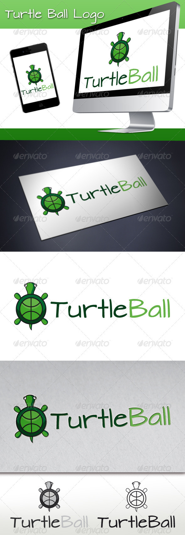 GraphicRiver Turtle Ball Logo 3363074