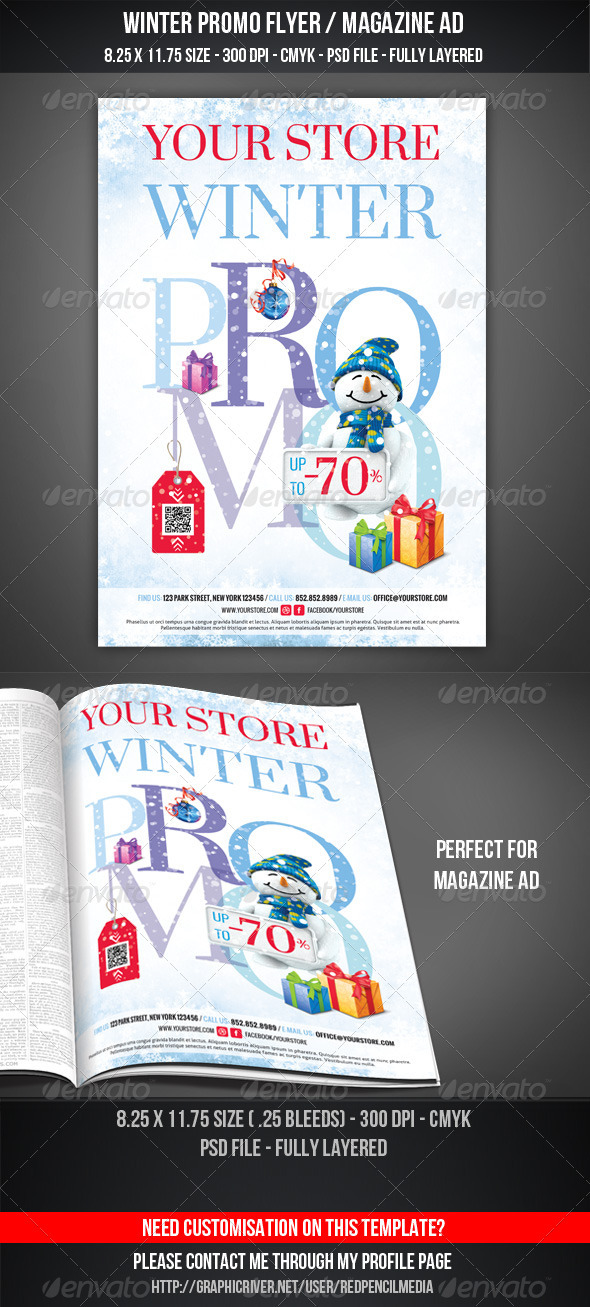 GraphicRiver Winter Promotional Flyer Magazine AD 3368437