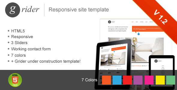 Grider responsive website template