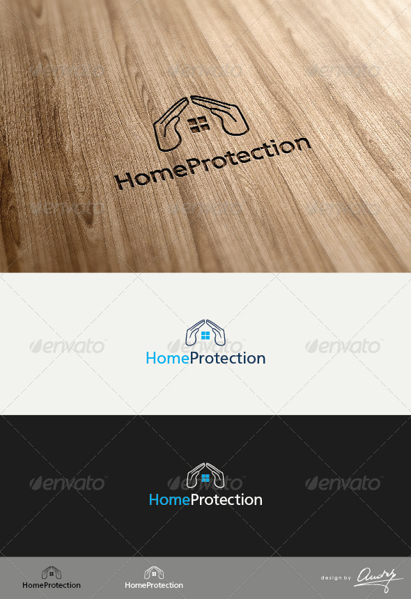 Home Protection Logo Template - Buildings Logo Templates