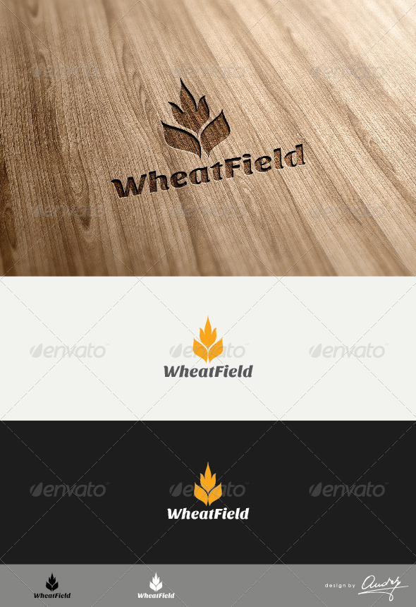 Wheat Field Logo Template - Food Logo Templates