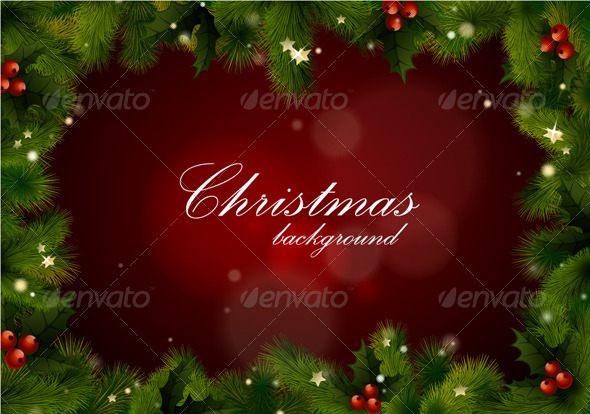 GraphicRiver Christmas background vector with text 3370814