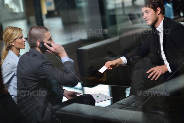 business people making deal - Stock Photo - Images