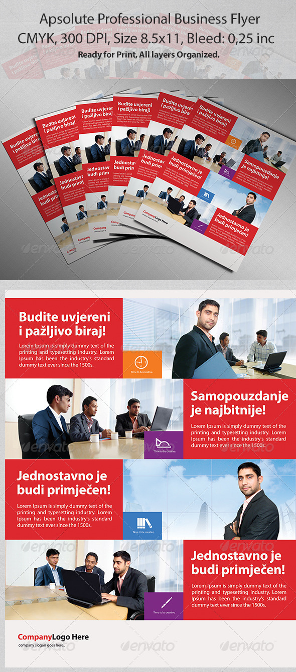GraphicRiver Apsolute Professional Business Flyer 3370922
