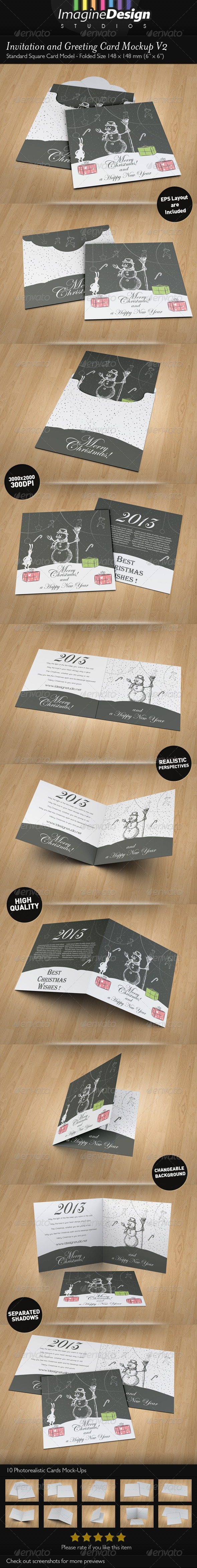 Invitation and Greeting Card Mockup V2 - Miscellaneous Print