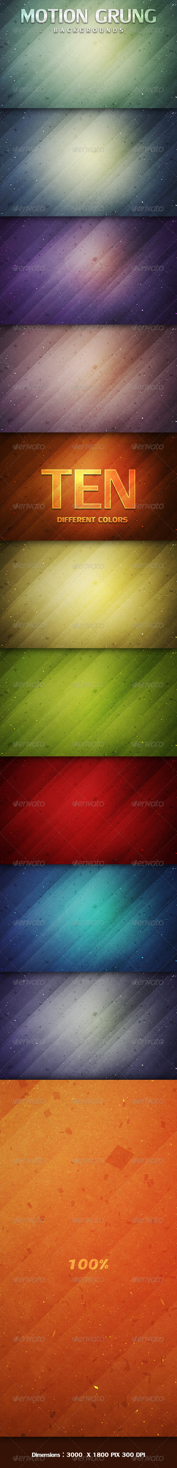 GraphicRiver Motion Grunge Backgrounds 3371153
