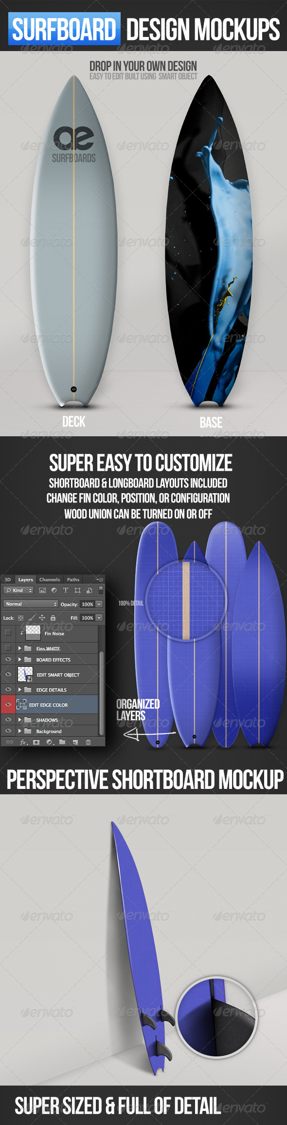 GraphicRiver Surfboard Mockups 3173592