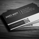 White Line Business Card - GraphicRiver Item for Sale