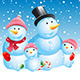 Christmas Card. Snowman Family - GraphicRiver Item for Sale