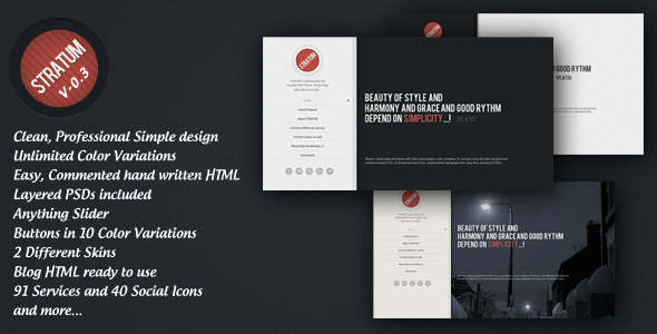Stratum – HTML single page Template