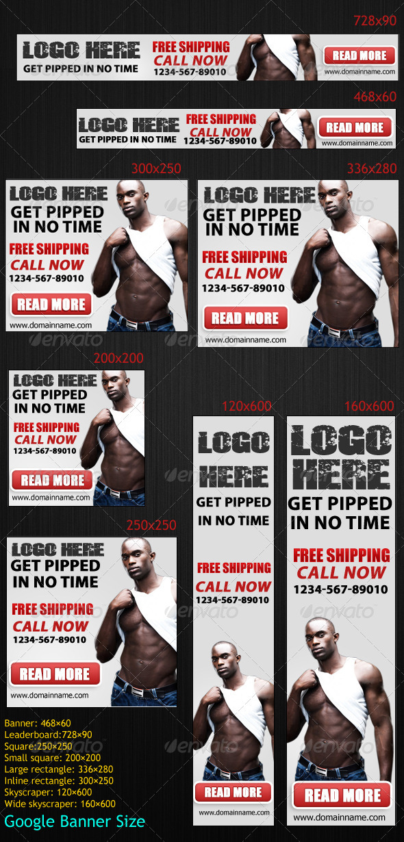 GraphicRiver Bodybuilding Banners 3372319