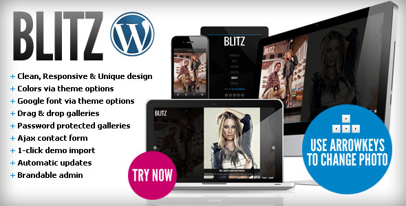 Blitz - Responsive & Unique Wordpress Theme - Photography Creative