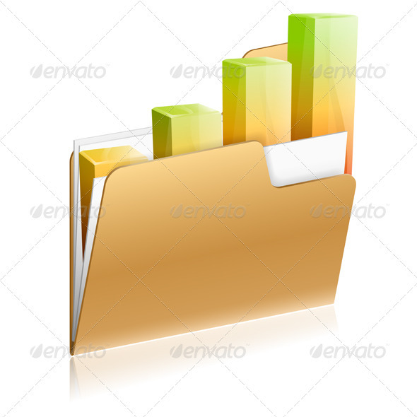 GraphicRiver Financial Folder Icon 3373048