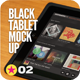 Black Pad | Tablet App UI Mock-Up - GraphicRiver Item for Sale