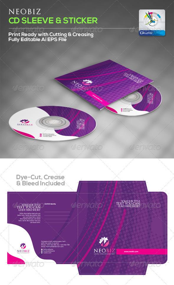 cd sleeve printing template - neobiz creative cd sleeve sticker graphicriver