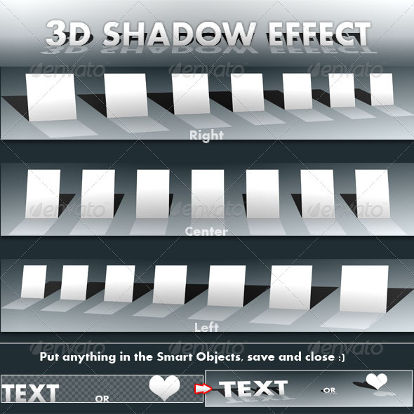3D Shadow Effect - 3D Backgrounds