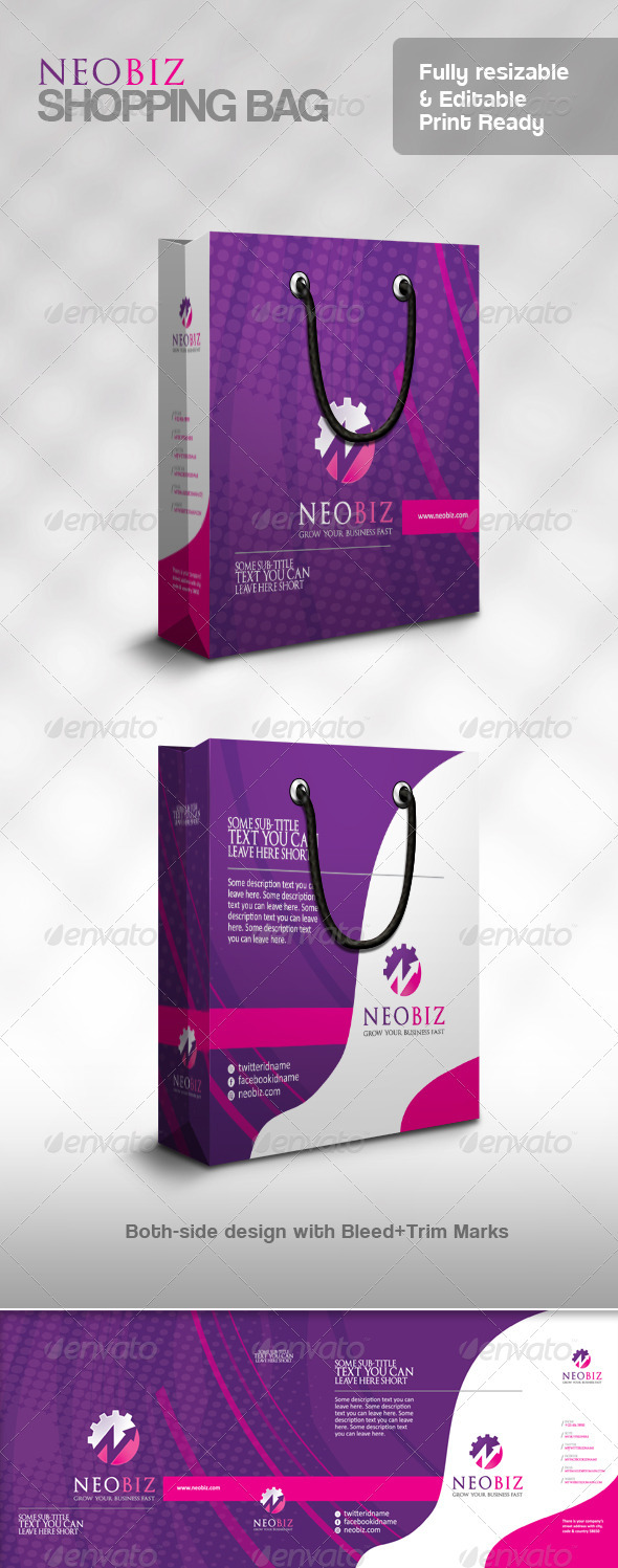 NeoBiz Multipurpose Shopping Bag - Packaging Print Templates
