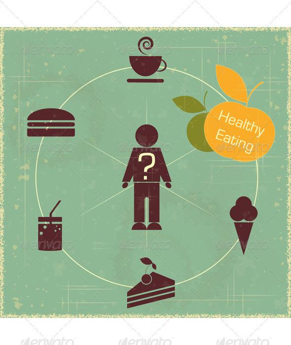 GraphicRiver Healthy Food Concept 3375305