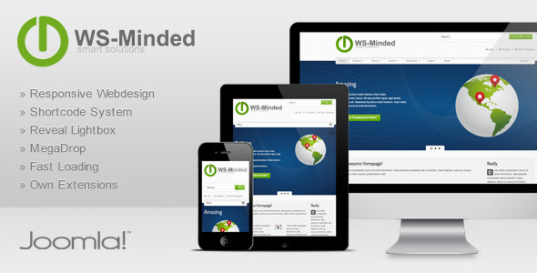 ThemeForest WS-Minded Responsive Joomla Template 3324055