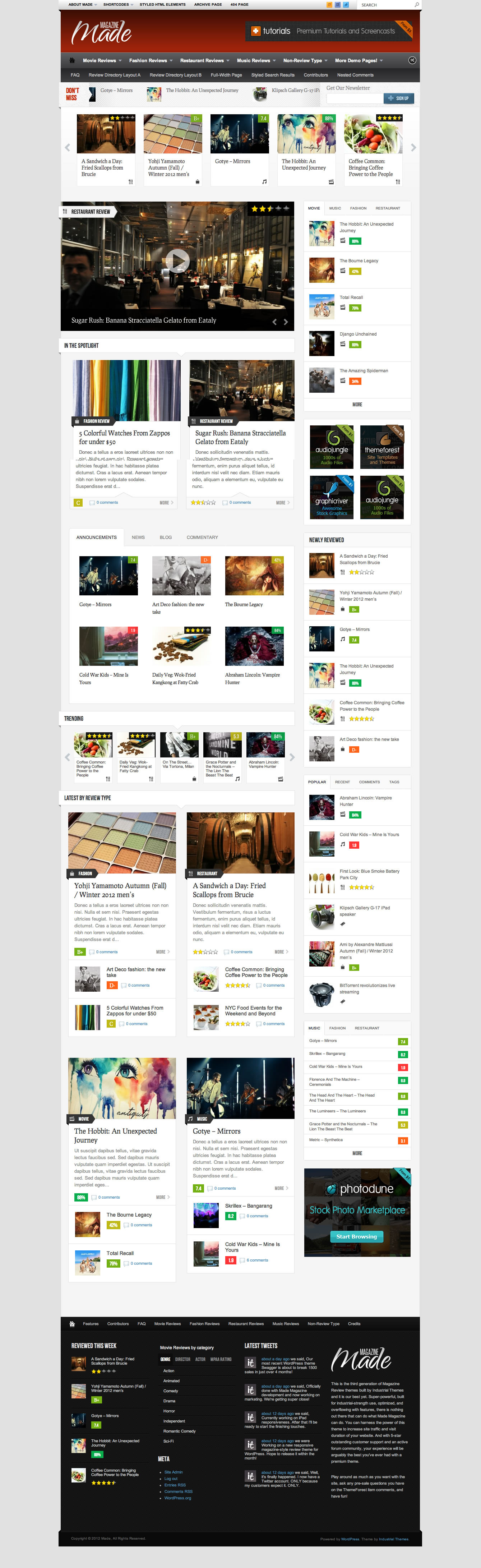 Made - Responsive Review/Magazine Theme