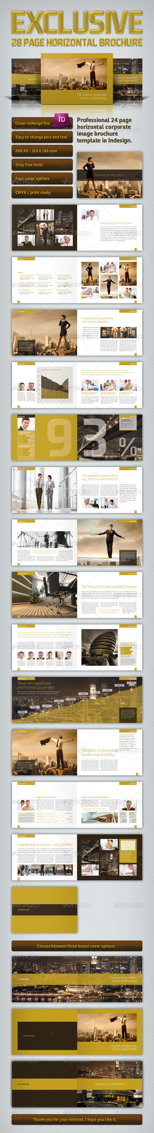 Exclusive Horizontal Brochure - Corporate Brochures