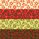 Four Christmas Snakes Seamless Patterns - GraphicRiver Item for Sale