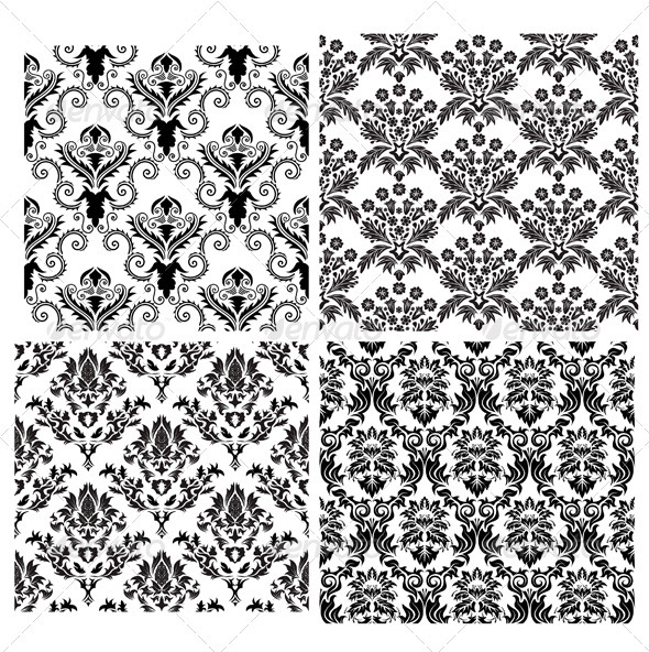 GraphicRiver Damask Pattern Set 3361994