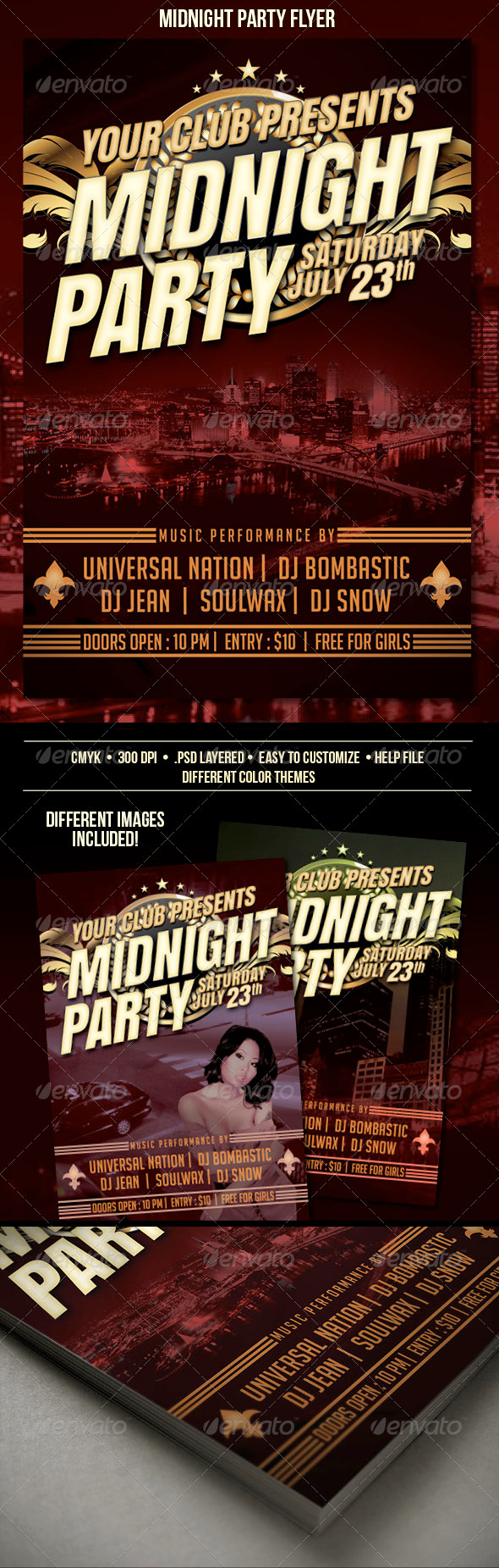 GraphicRiver Midnight Party Flyer 3377602