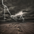 Lightning thunderstorm at sea - PhotoDune Item for Sale