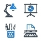 Office Icons-Blue Series - GraphicRiver Item for Sale