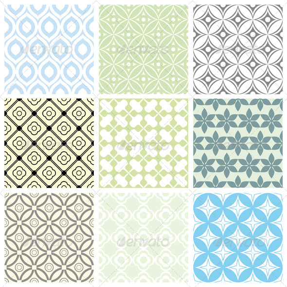 GraphicRiver Geometric Vector Patterns 3377878