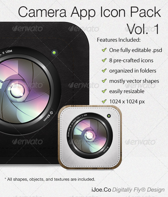 GraphicRiver Camera App Icon Pack Vol 1 3380847