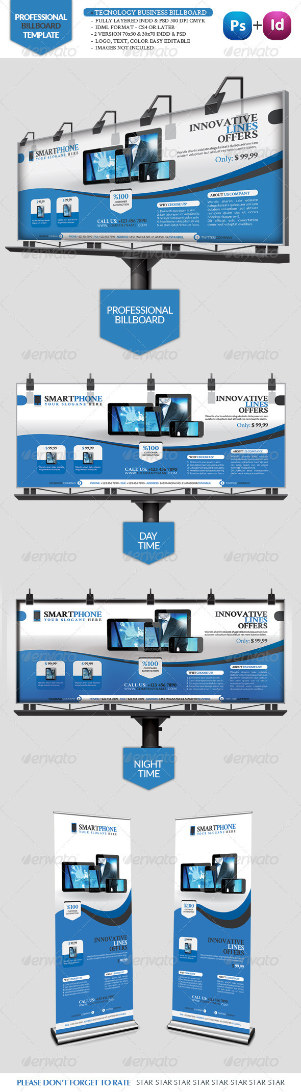 GraphicRiver Tecnology Business Billboard 3383082